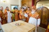 Патриарший экзарх всея Беларуси освятил храм прп. Варлаама Серпуховского в Минске