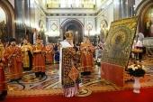 В канун дня памяти святителя Николая Чудотворца Святейший Патриарх Кирилл совершил всенощное бдение в Храме Христа Спасителя в Москве