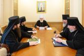 Патриарший экзарх всея Беларуси возглавил заседание Архиерейского совета Минской митрополии