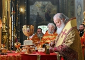 В день памяти святителя Николая Чудотворца Святейший Патриарх Кирилл совершил Литургию в Николо-Перервинском монастыре