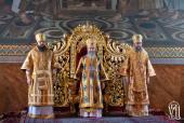 В день памяти святителя Николая Чудотворца Блаженнейший митрополит Онуфрий совершил Литургию в Покровском женском монастыре г. Киева