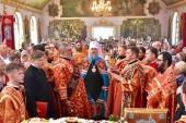 В день памяти равноапостольных Мефодия и Кирилла митрополит Астанайский Александр совершил Литургию в Иоанно-Богословском храме Талдыкоргана