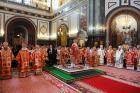 В день памяти святых равноапостольных Мефодия и Кирилла Святейший Патриарх Кирилл совершил Литургию в Храме Христа Спасителя