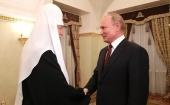 Президент Российской Федерации В.В. Путин поздравил Святейшего Патриарха Кирилла с днем тезоименитства