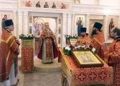 Первый престольный праздник встретили в храме святых равноапостольных Кирилла и Мефодия при МГУ