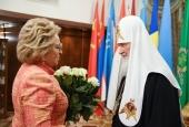 Председатель Совета Федерации, председатель Государственной Думы и мэр Москвы поздравили Святейшего Патриарха Кирилла с днем тезоименитства