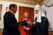 Председатель Правительства РФ Д.А. Медведев поздравил Святейшего Патриарха Кирилла с днем тезоименитства
