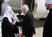 Святейший Патриарх Кирилл прибыл в Страсбург