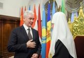 Мэр Москвы поздравил Святейшего Патриарха Кирилла с днем тезоименитства