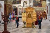 Главная икона Вооруженных сил России принесена в Патриарший войсковой всеказачий собор в Новочеркасске