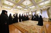 Игумены и игумении ставропигиальных монастырей поздравили Святейшего Патриарха Кирилла с 50-летием служения в священном сане