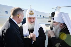 Святейший Патриарх Кирилл прибыл в Санкт-Петербург