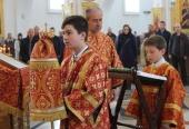 В Петропавловской епархии впервые совершена Божественная литургия с участием детей
