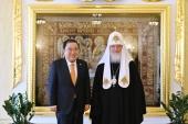 Состоялась встреча Святейшего Патриарха Московского и всея Руси Кирилла с Председателем Национального собрания Республики Корея