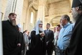 Предстоятель Русской Церкви посетил строящийся храм святых равноапостольных Кирилла и Мефодия в Калининграде
