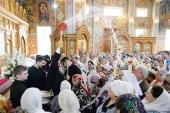 В праздник Вознесения Господня глава Казахстанского митрополичьего округа совершил Литургию в Софийском соборе Алма-Аты