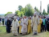 На месте обретения чудотворного Великорецкого образа святителя Николая состоялось торжественное богослужение