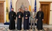 Состоялась встреча митрополита Волоколамского Илариона с Блаженнейшим Архиепископом Кипрским Хризостомом