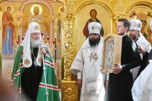Слово Святейшего Патриарха Кирилла после Литургии в московском храме в честь иконы Божией Матери «Неувядаемый Цвет» в Рублеве