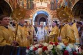 Предстоятель Украинской Православной Церкви совершил Литургию в Неделю святых отцов I Вселенского Собора