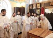 Патриарший наместник Московской епархии освятил храм блаженной Ксении Петербургской в подмосковной деревне Слобода