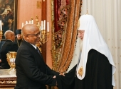 Святейший Патриарх Кирилл встретился с послом Эфиопии в России А. Тегену