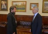 Митрополит Волоколамский Иларион встретился с новоназначенным послом России в Сербии
