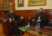 Иерарх Сербской Православной Церкви посетил Отдел внешних церковных связей