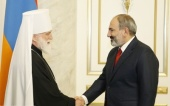 Патриарший экзарх всея Беларуси встретился с премьер-министром Республики Армения