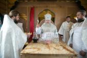 Глава Ханты-Мансийской митрополии возглавил освящение возрожденного храма в селе Ларьяк
