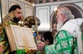 В канун праздника Святой Троицы Святейший Патриарх Кирилл совершил всенощное бдение в Храме Христа Спасителя