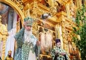 В праздник Святой Троицы Святейший Патриарх Кирилл совершил Литургию в Троице-Сергиевой лавре и возглавил хиротонию архимандрита Алексия (Поликарпова) во епископа Солнечногорского