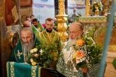 В праздник Святой Троицы Святейший Патриарх Кирилл совершил Литургию в Троице-Сергиевой лавре