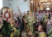 Патриарший наместник Московской епархии возглавил торжества по случаю престольного праздника и 150-летнего юбилея Троицкого храма подмосковного села Шарапово