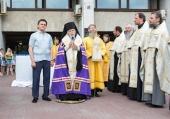 Председатель Синодального отдела по благотворительности в сослужении 50 священников со всей России освятил онкоцентр имени Н.Н. Блохина в Москве