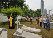 На кладбище в Бангкоке совершена панихида по российским военным морякам с крейсера «Аврора»