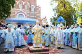 Святейший Патриарх Кирилл совершил на Бородинском поле благодарственный молебен в память об избавлении России от нашествия Наполеона