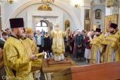 В Неделю 3-ю по Пятидесятнице Патриарший экзарх всея Беларуси совершил Литургию в Свято-Духовом кафедральном соборе Минска