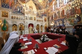 His Holiness Patriarch Kirill chairs session of the Holy Synod at Valaam Monastery