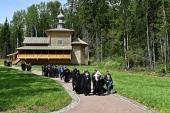 Предстоятель Русской Церкви совершил чин освящения храма преподобного Серафима Саровского на Порфирьевском острове Валаамского архипелага