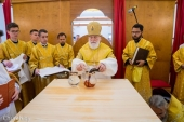 Патриарший экзарх всея Беларуси возглавил освящение храма в честь праведного страстотерпца Евгения (Боткина) в Минске
