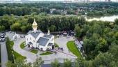 """În Duminica a 4-a după Cincizecime Sanctitatea Sa Patriarhul Chiril a săvârșit sfințirea bisericii cu hramul """"Icoana Maicii Domnului de Kazan"""" din localitatea Meșiorsky, or. Moscova"""