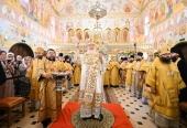В Неделю 4-ю по Пятидесятнице Святейший Патриарх Кирилл совершил освящение храма Казанской иконы Божией Матери в поселке Мещёрский г. Москвы