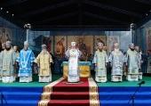 В праздник Казанской иконы Божией Матери Святейший Патриарх Кирилл совершил Литургию в Новоторжском Борисоглебском монастыре