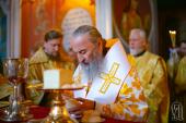 В Неделю 5-ю по Пятидесятнице Предстоятель Украинской Православной Церкви совершил Литургию в Киево-Печерской лавре