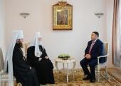 Святейший Патриарх Кирилл встретился с губернатором Тверской области И.М. Руденей и митрополитом Тверским Саввой