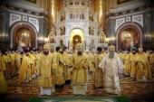 В Храме Христа Спасителя г. Москвы состоялись проводы мощей святых благоверных Петра и Февронии Муромских