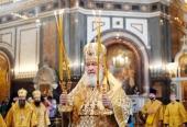 В день памяти святой княгини Ольги Святейший Патриарх Кирилл совершил Литургию в Храме Христа Спасителя