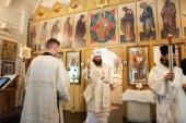 Наместник Троице-Сергиевой лавры освятил храм Всемилостивого Спаса в подмосковном Сергиевом Посаде