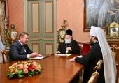 Состоялась встреча Святейшего Патриарха Кирилла с главой Росимущества В.В. Яковенко
